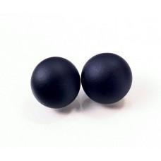 Глазки стеклянные черные матовые GE1033