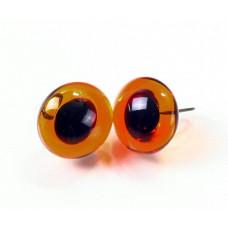 Глазки стеклянные коричневые GE1105