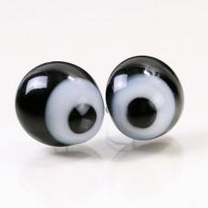 Глазки стеклянные с белком и зрачком GE1179
