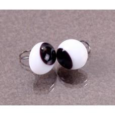 Глазки стеклянные со скошенным зрачком GE1180