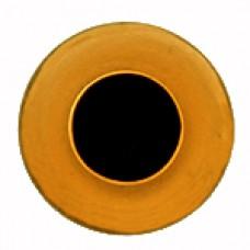 Глазки стеклянные топазовые GE1604
